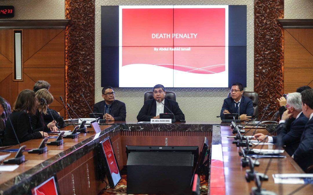 Regional Parliamentary Seminar Standing Againt Death Penalty in Asia anjuran PGA 30-31.10.2018